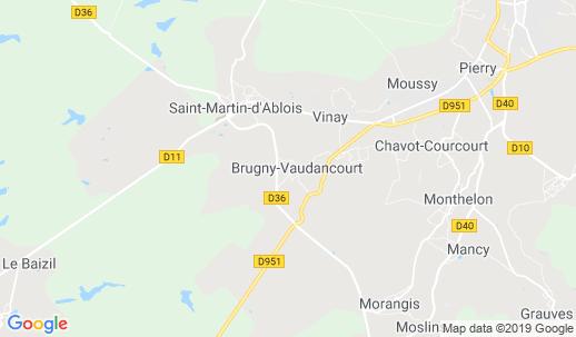 Karta Champagnedistriktet Frankrike.A Hotel Com Lyx Och Billigt Hoetell I Brugny Vaudancourt
